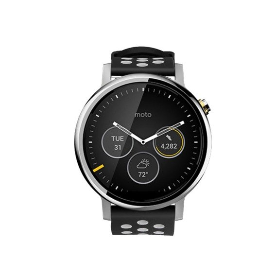 Pasek gumowy z klamrą do Galaxy Watch 46mm/Huawei Watch GT - black/grey