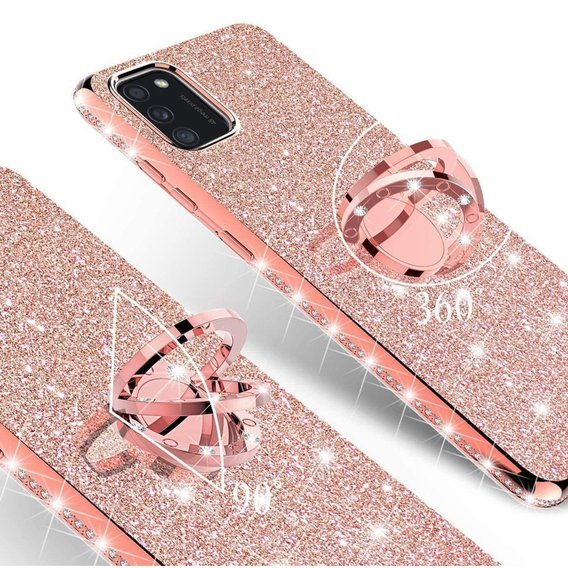 Etui Bling do Samsung Galaxy A41, Rose gold