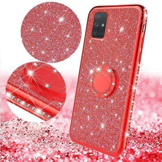 Etui Bling do Samsung Galaxy A71, Red
