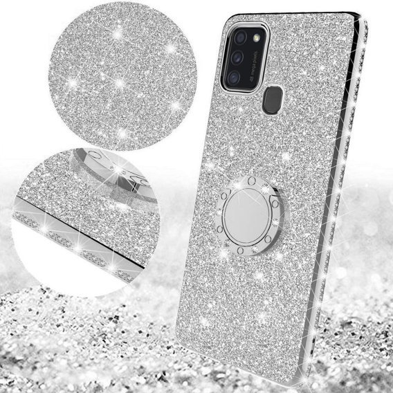 Etui Bling do Samsung Galaxy M21, Silver