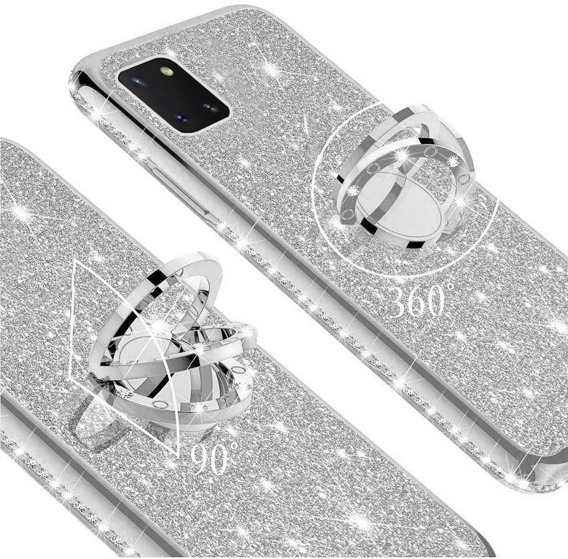 Etui Bling do Samsung Galaxy Note 10 Lite, Silver