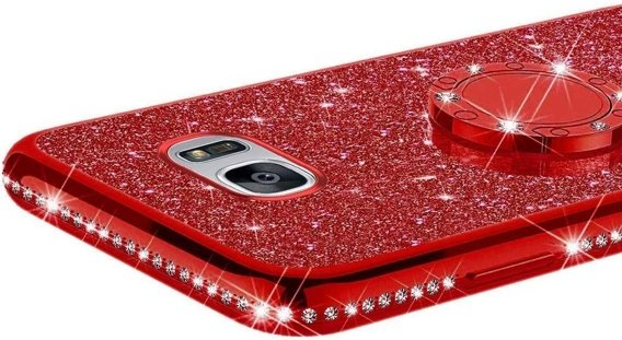 Etui Bling do Samsung Galaxy S7, Red
