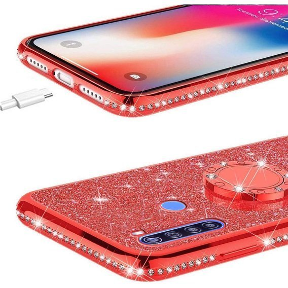 Etui Bling do Xiaomi Redmi Note 8T, Red