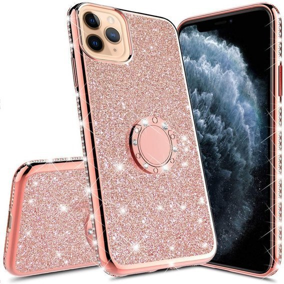 Etui Bling do iPhone 11, Rose Gold
