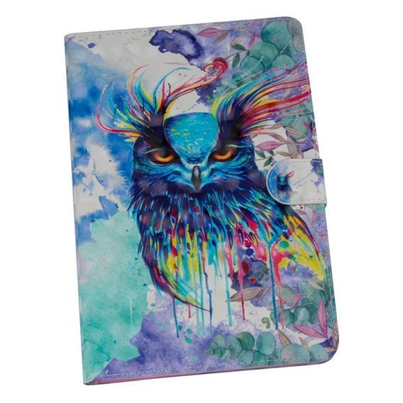 Etui Book Stand Case Amazon Kindle Paperwhite 1/2/3/4 - Colorful Owl