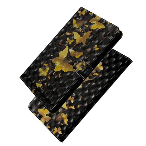 Etui Book Stand Case Amazon Kindle Paperwhite 1/2/3/4 - Gold Butterflies