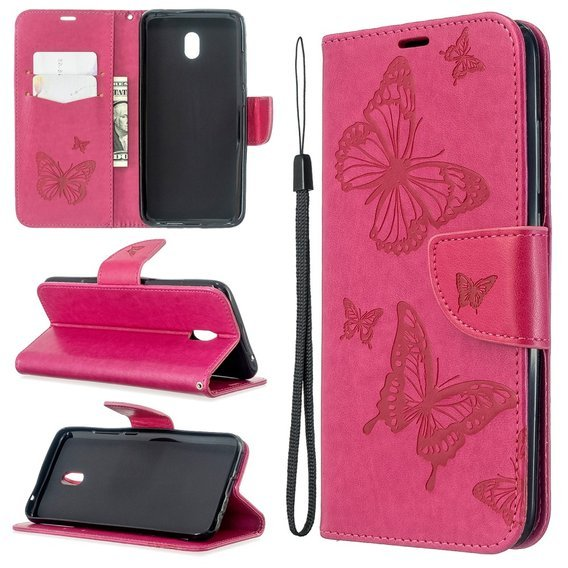 Etui Butterfly Wallet do Xiaomi Redmi 8A - Rose