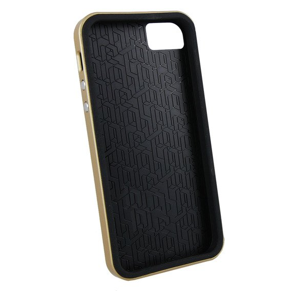 Etui CASE-MATE iPhone 5 5S SE - Slim Tough Black/Gold