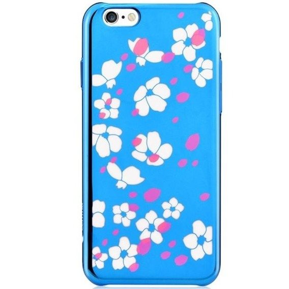 Etui COMMA Bloom Hard Case iPhone 6 6s 4.7 - Niebieski