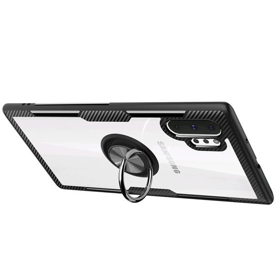 Etui Clear Ring do Samsung Galaxy Note 10+ Plus - carbon black