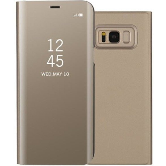 Etui Clear View Standing Cover SAMSUNG Galaxy S8 Plus - Gold