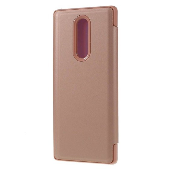 Etui Mirror View Case do Sony Xperia 1 - Rose Gold