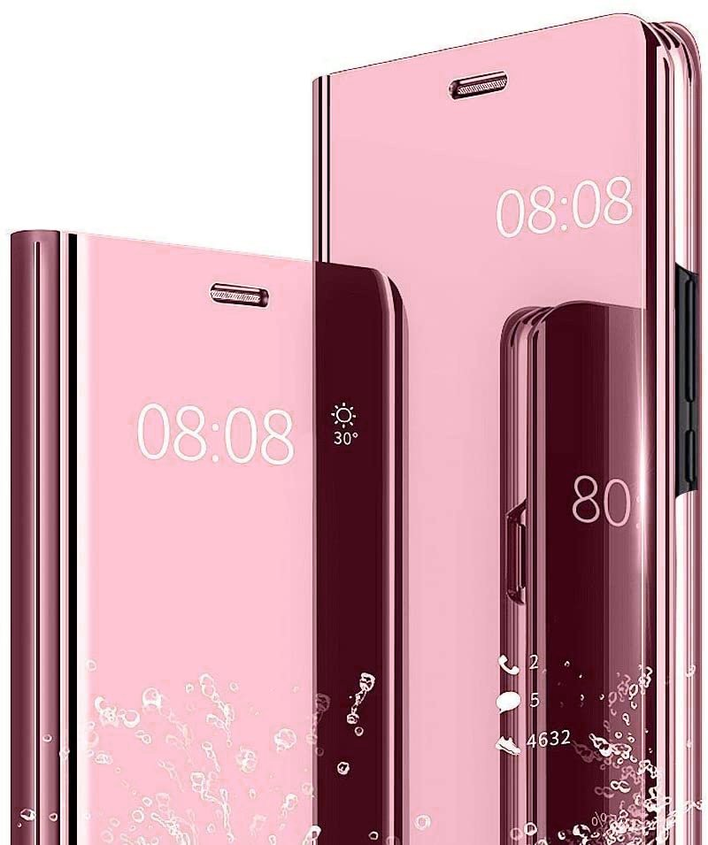 Etui Clear View do LG K61 - Rose Gold