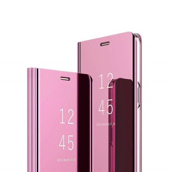 Etui Clear View do Samsung Galaxy A41 - Rose Gold