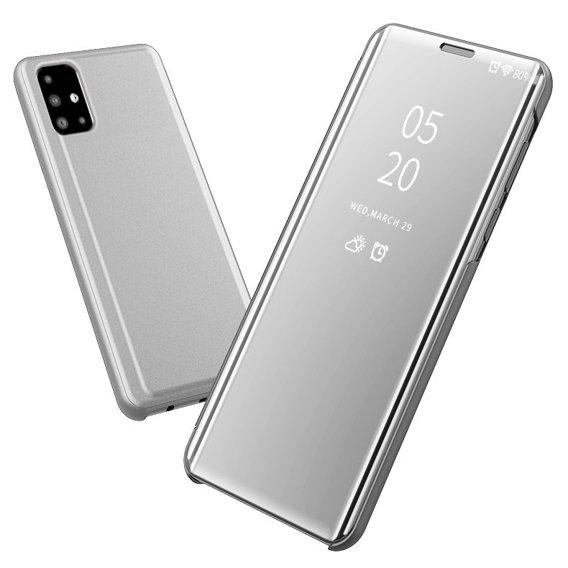Etui Clear View do Samsung Galaxy A71 - Silver
