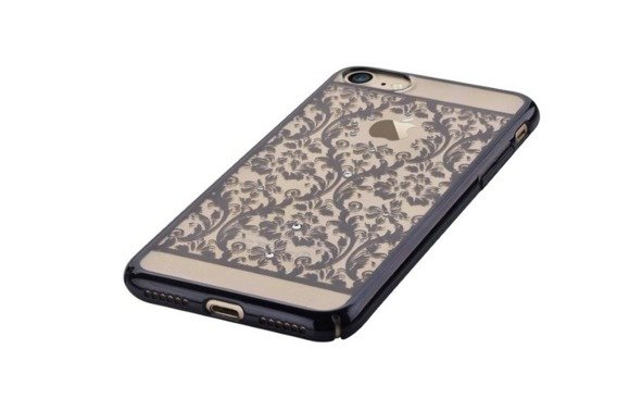 Etui DEVIA Baroque Swarovski Crystals Hard Case iPhone 8/7 4.7 - Czarny