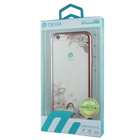 Etui DEVIA Engaging Diamond With Swarovski Elements iPhone 6/6S 4.7 - Rose Gold
