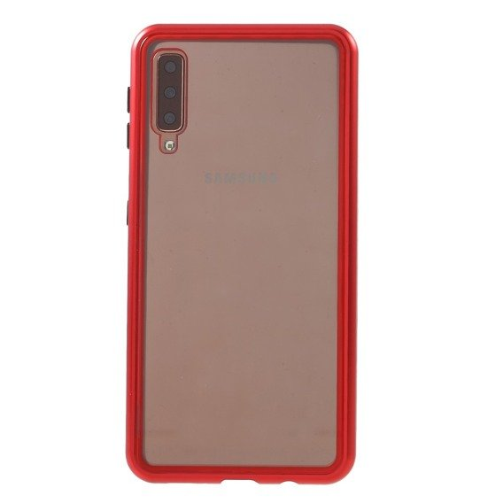 Etui ERBORD 360 Magnetic Metal Case Samsung Galaxy A7 2018 - Red