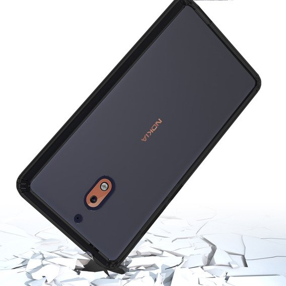 Etui ERBORD Fusion do Nokia 2.1 - Black / Clear