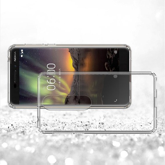 Etui ERBORD Fusion do Nokia 6.1 Plus - Clear