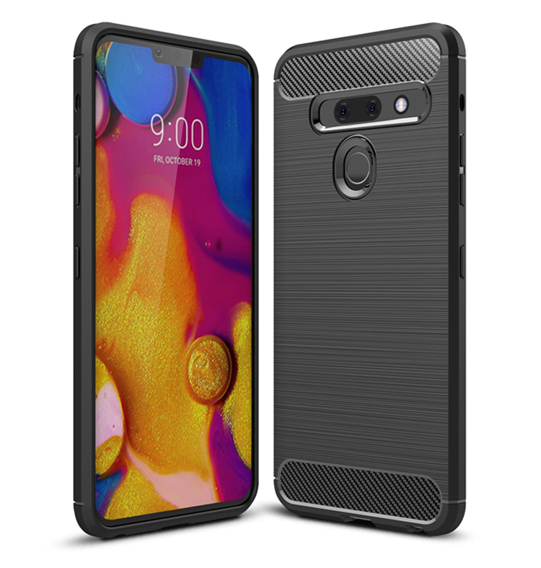 Etui ERBORD Karbon do LG G8 ThinQ - Black