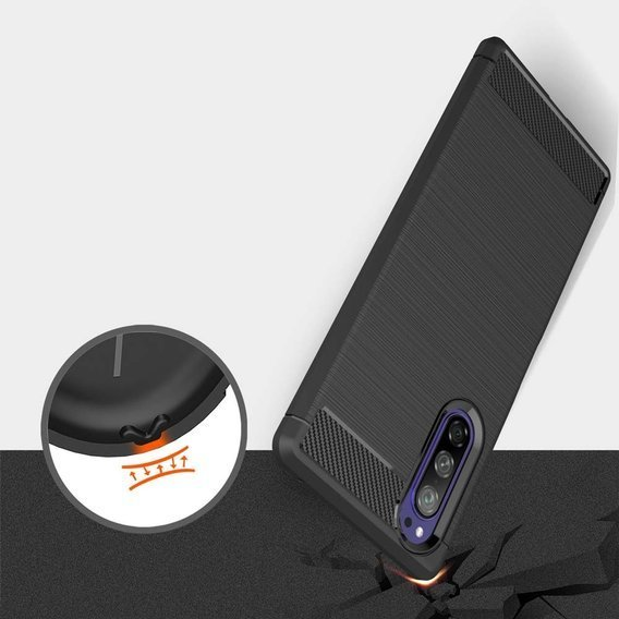 Etui ERBORD Karbon do Sony Xperia 5 - Black