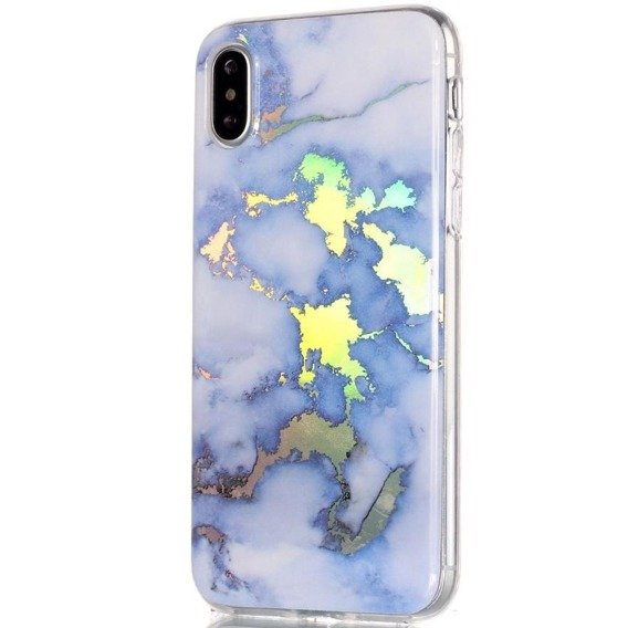 Etui ERBORD Marmur Slim Case do iPhone XS Max - Blue