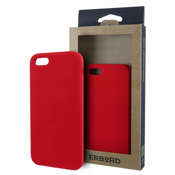 Etui ERBORD Silicone Case iPhone 5/5S/SE - Red