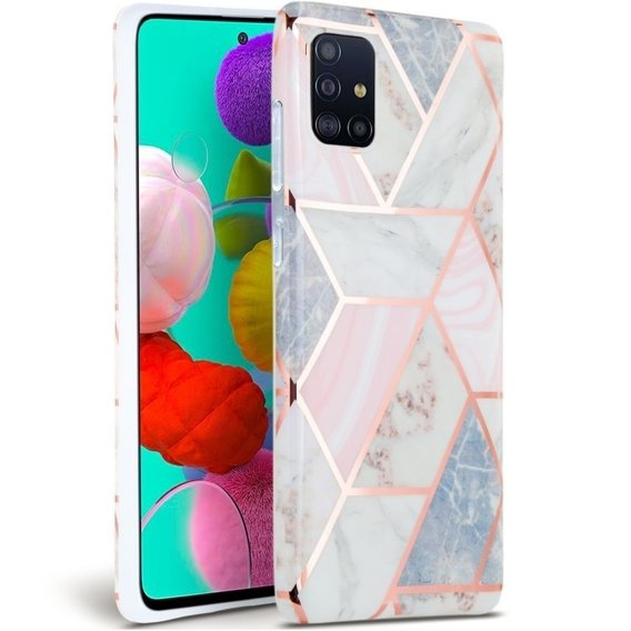 Etui ERBORD Slim Case do Samsung Galaxy A71 - Marble Pink