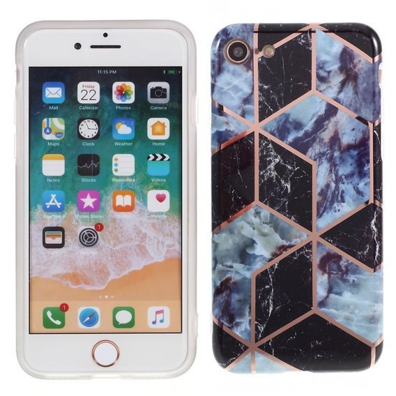 Etui ERBORD Slim Case do iPhone 7/8/SE 2020 - Marble Pattern - Style A