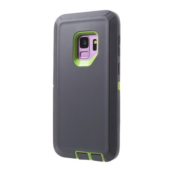 Etui ERBORD TOUGH do Samsung Galaxy S9 - Grey / Green