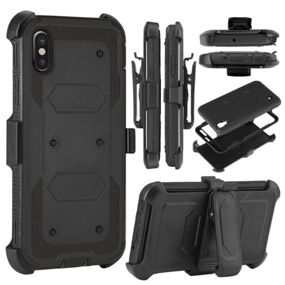 Etui ERBORD TOUGH do iPhone X / XS - Black