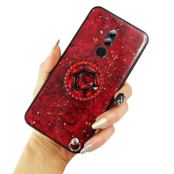 Etui Epoxy Gold Huawei Mate 20 Lite - Red