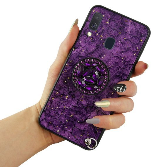 Etui Epoxy Gold Samsung Galaxy A40 - Purple
