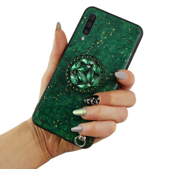 Etui Epoxy Gold Samsung Galaxy A70 - Green
