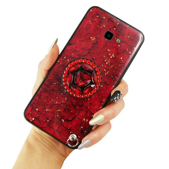 Etui Epoxy Gold Samsung Galaxy J4 Plus - Red