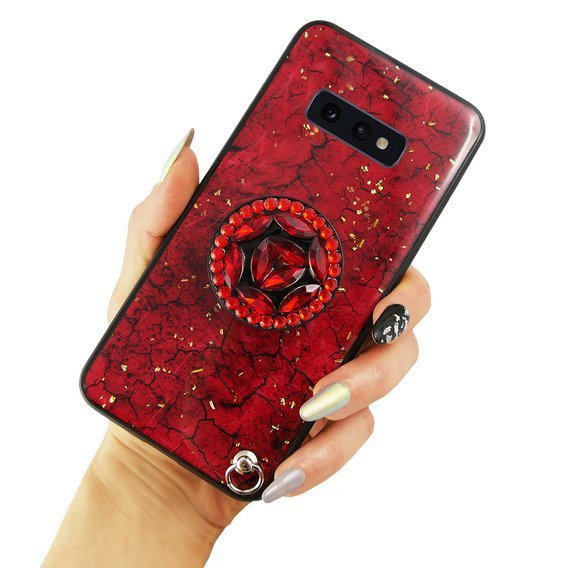 Etui Epoxy Gold Samsung Galaxy S10E - Red