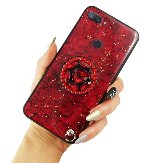 Etui Epoxy Gold Xiaomi Mi 8 Lite - Red