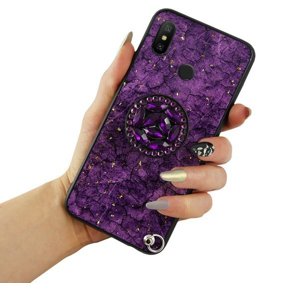Etui Epoxy Gold Xiaomi Mi A2 Lite - Purple