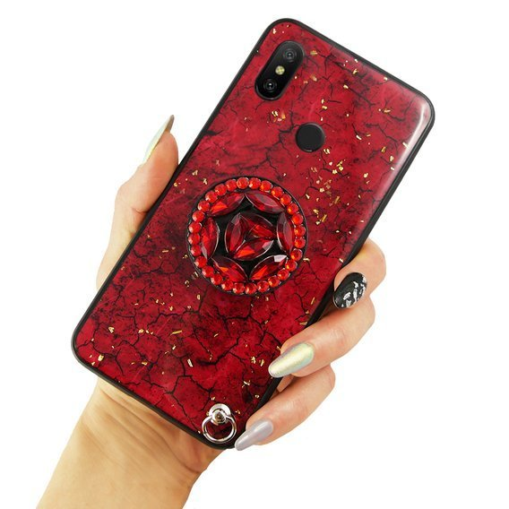 Etui Epoxy Gold Xiaomi Mi A2 Lite - Red