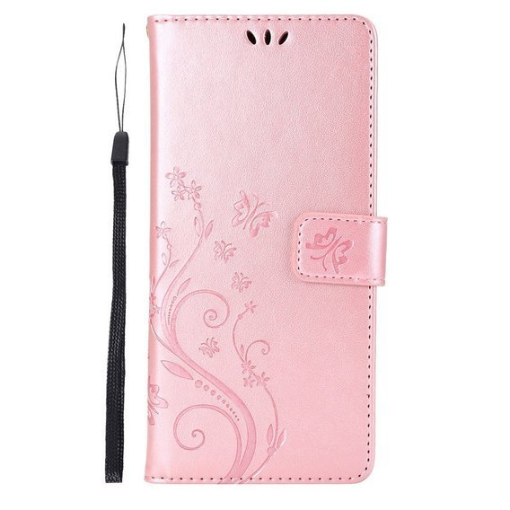 Etui Flexi Book Butterfly Flower do Samsung Galaxy Note 10 Lite - Rose Gold