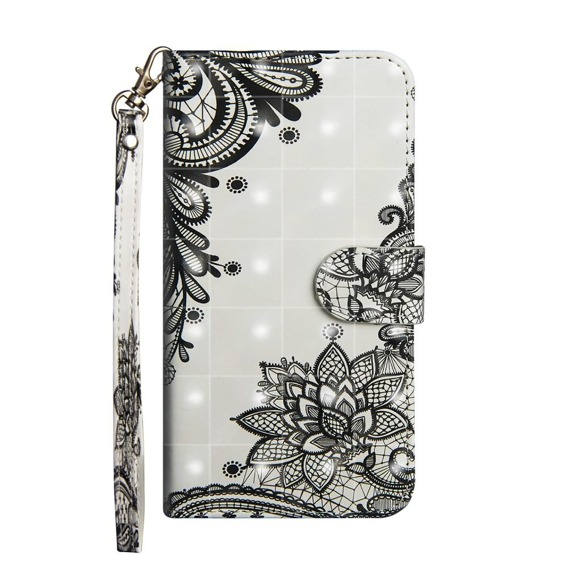 Etui Flexi Book do Samsung Galaxy A20 / A30 - Black Flower