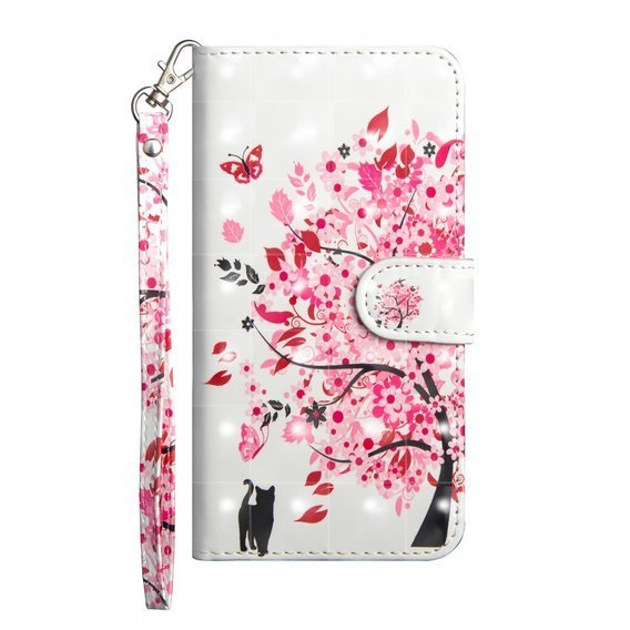 Etui Flexi Book do Samsung Galaxy A71 - Cat and Flower Tree