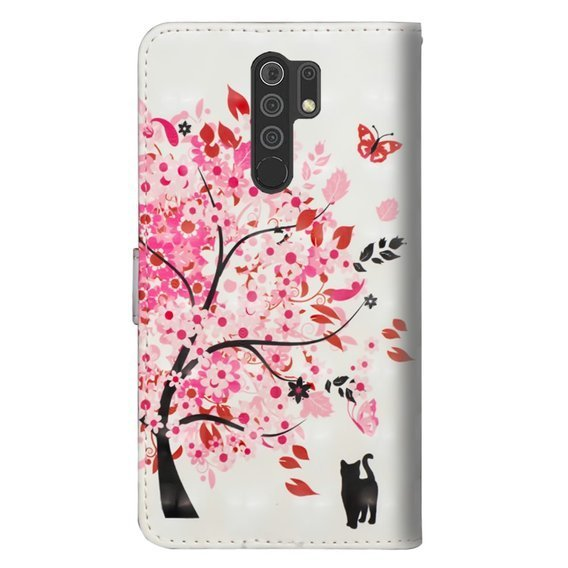 Etui Flexi Book do Xiaomi Redmi 9, Flower Tree