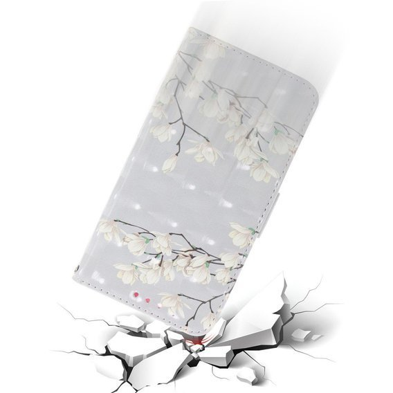 Etui Flexi Book do Xiaomi Redmi Note 8 Pro - White Flowers