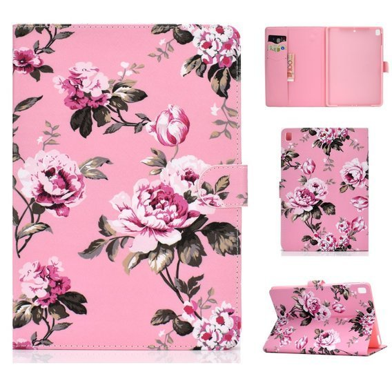 Etui Flexi Book do iPad 9.7 2017 / 2018 / iPad Air / Air 2 - Flower