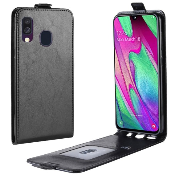 Etui Flip do Samsung Galaxy A40 - Black