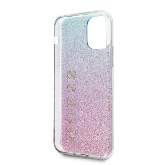 Etui GUESS do iPhone 11 Pro - Glitter Gradient Hard Case - Pink / Blue