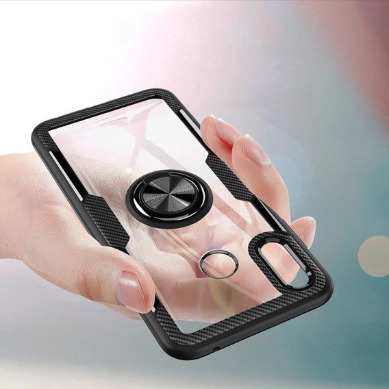Etui Glass  Ring do Huawei Honor Play - Black