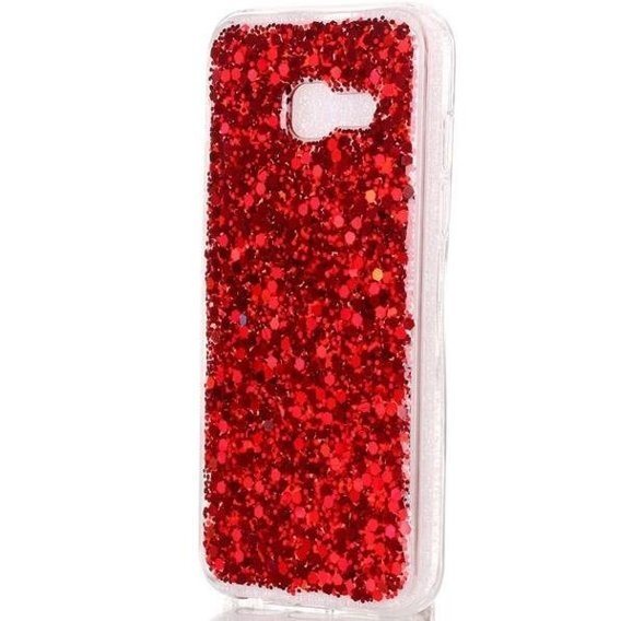 Etui Glittering Sequins Hybrid Case Samsung Galaxy A3 2017 - Red